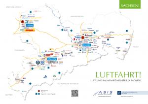Landkarte Luft- und Raumfahrt in Sachsen